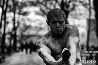 """The Struggle"" statue by Simeon Roksandic, in Kalemegdan Park"